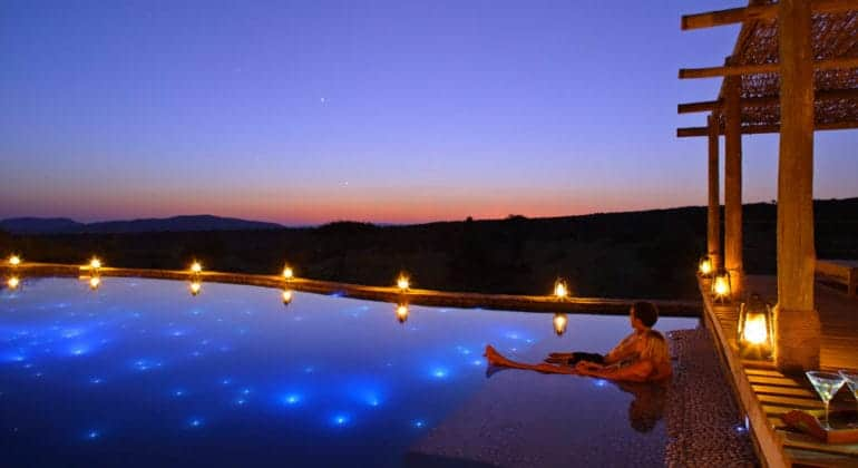 Mara Bushtops Pool At Night
