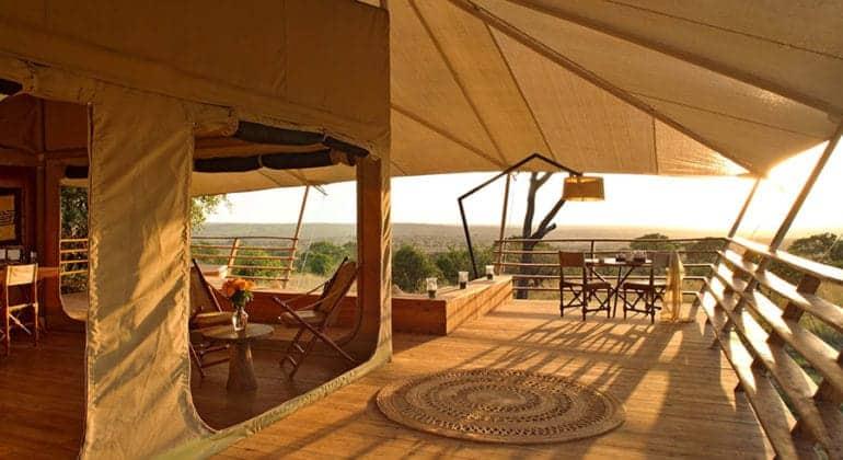 Serengeti Bushtops Tent Deck