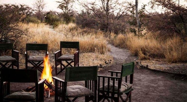 Camp Kalahari Fireplace