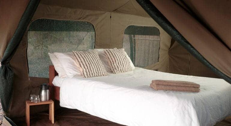 Nkonzi Bush Camp Bed In Tent