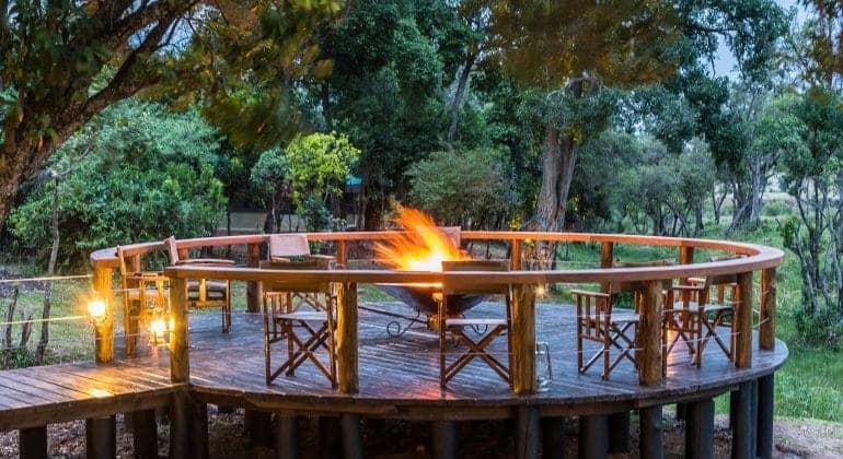Entim Private Camp Campfire