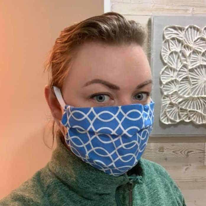 DIY fabric face mask