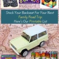 Packing for a road trip with kids includes stocking the backseat with water, snacks, games and more. Here are our tips for getting car and kids ready to go. #car #kids #tips #roadtrip #vacation