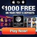 Luxury Casino $1000 free bonus money on all games