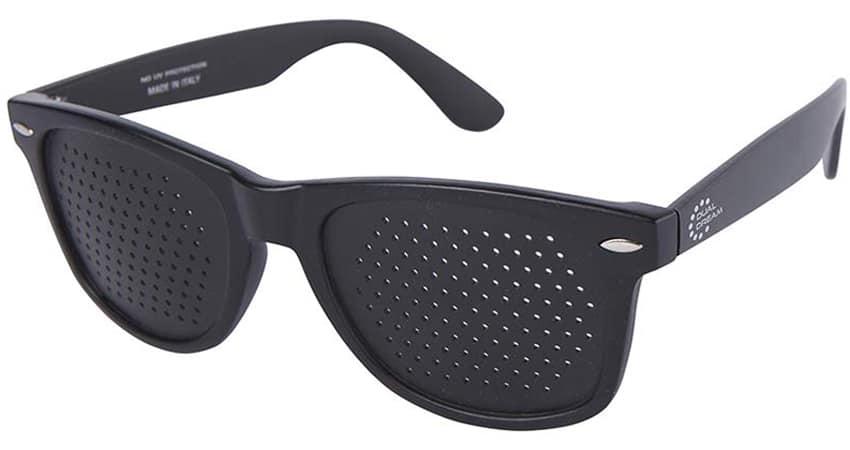 Dual dream Occhiali stenopeici Classic black - dispositivo di attivazione funzionale visiva