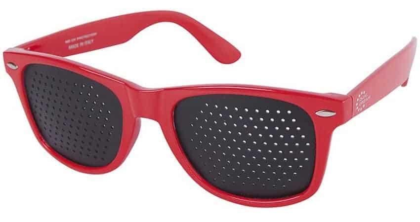 Occhiali stenopeici Classic red Dual Dream © Occhiali forati metodo Bates di riattivazione funzionale visiva