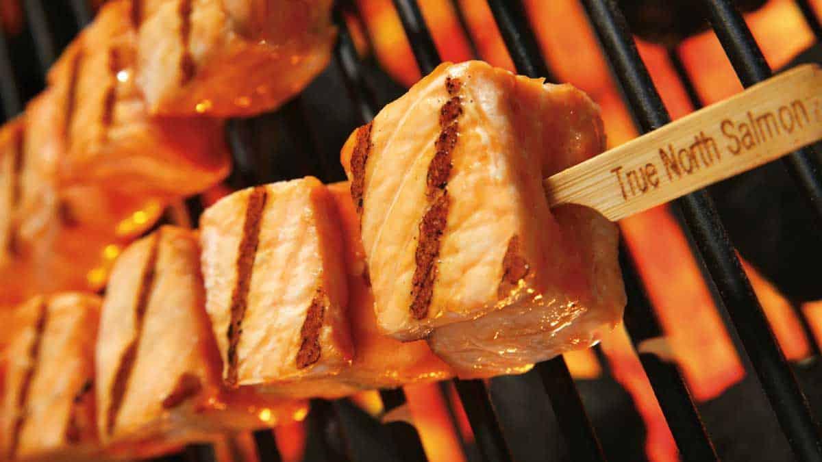 Teriyaki Grilled Salmon Skewers
