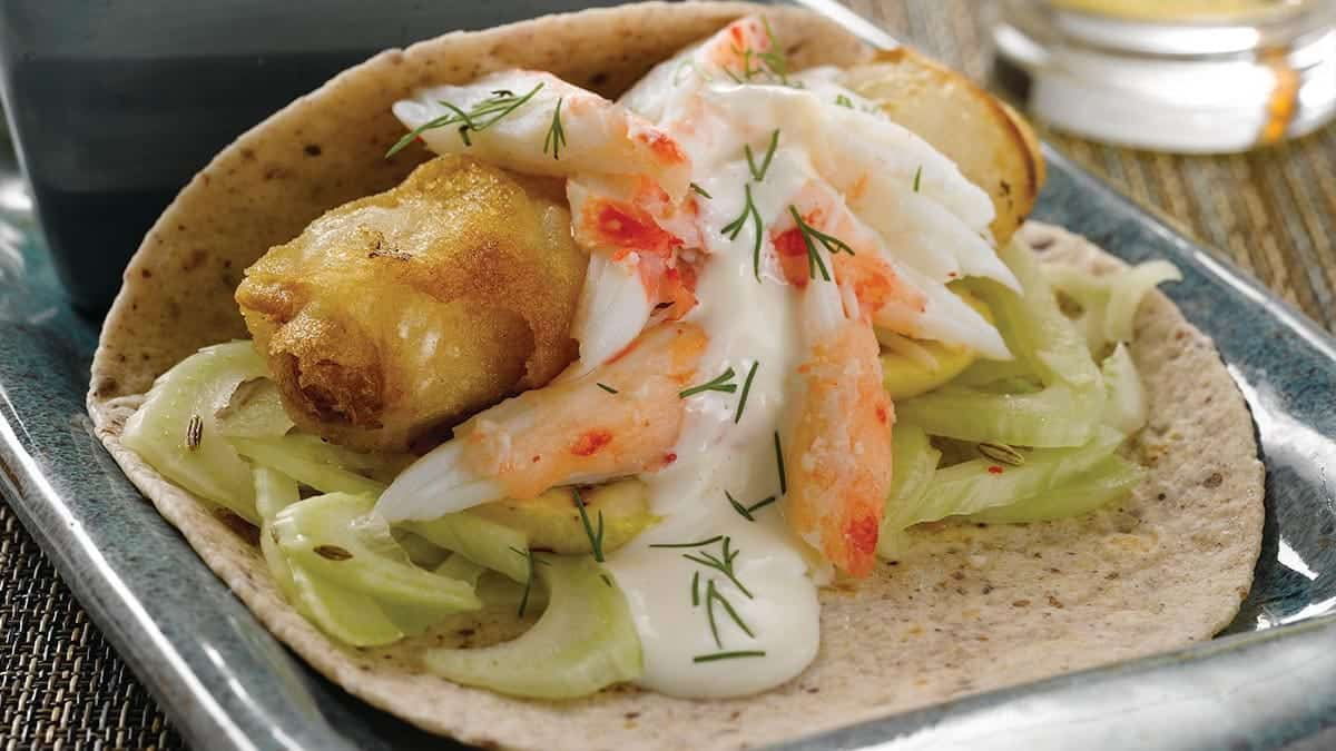 Halibut & Crab Fish Tacos
