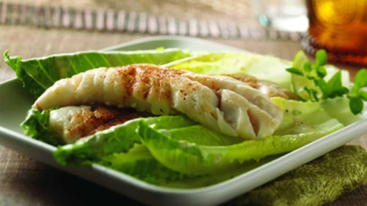 Spicy Chili-Lime Pollock Caesar Salad