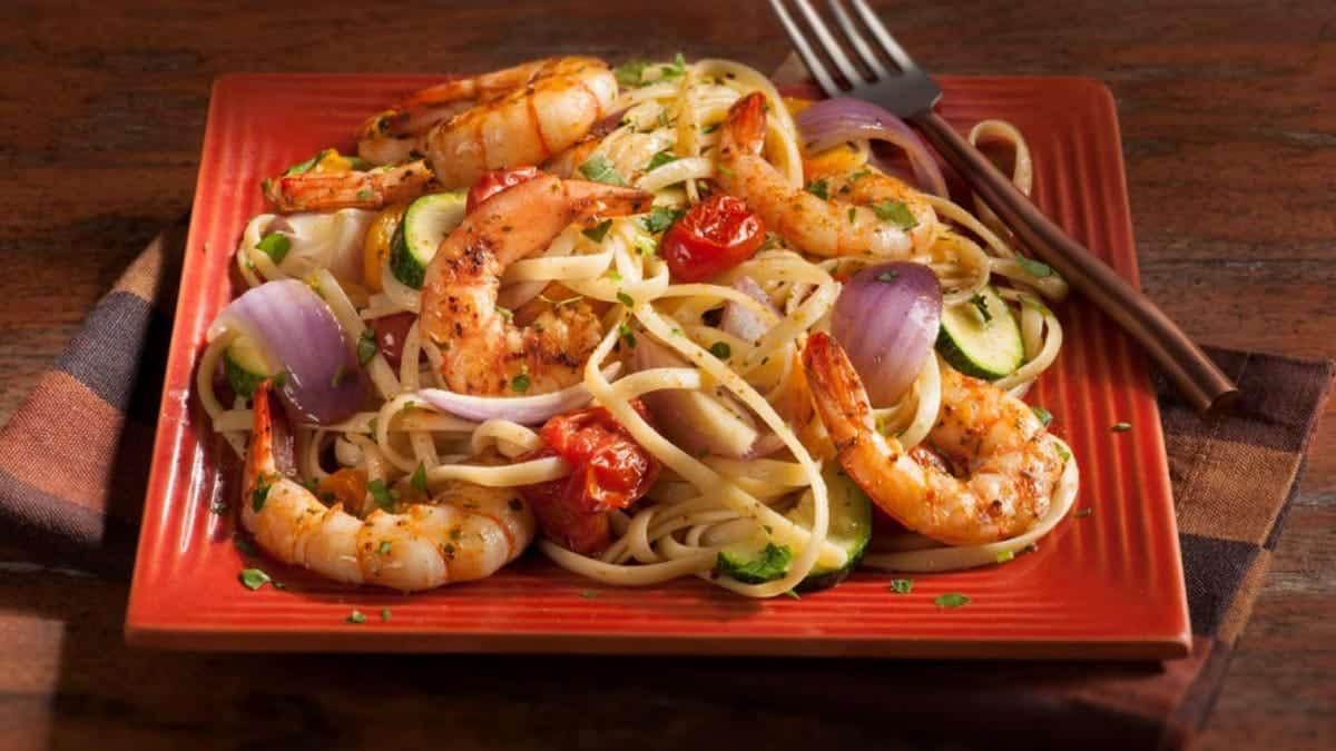 Cajun Shrimp Pasta with Vegetables