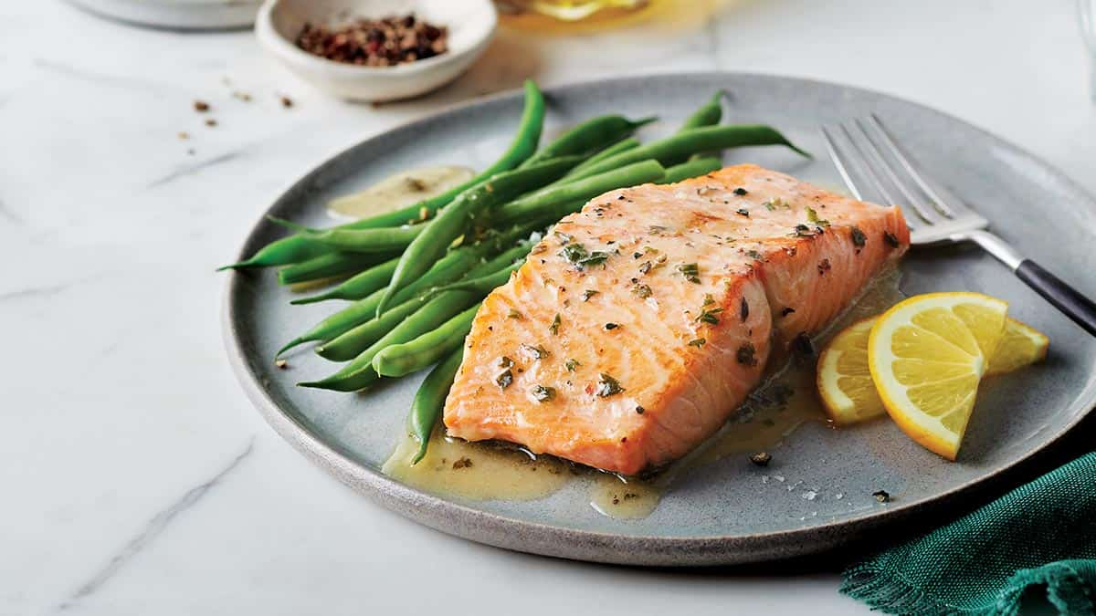 Pan-Seared Salmon with Lemon Herb Butter