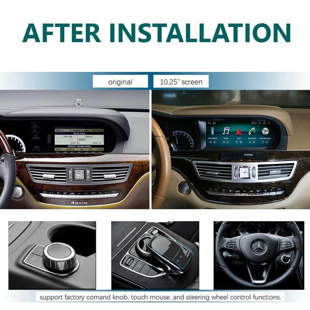 W221 Mercedes S-Klasse Display upgrade 10,25 Zoll Touchscreen
