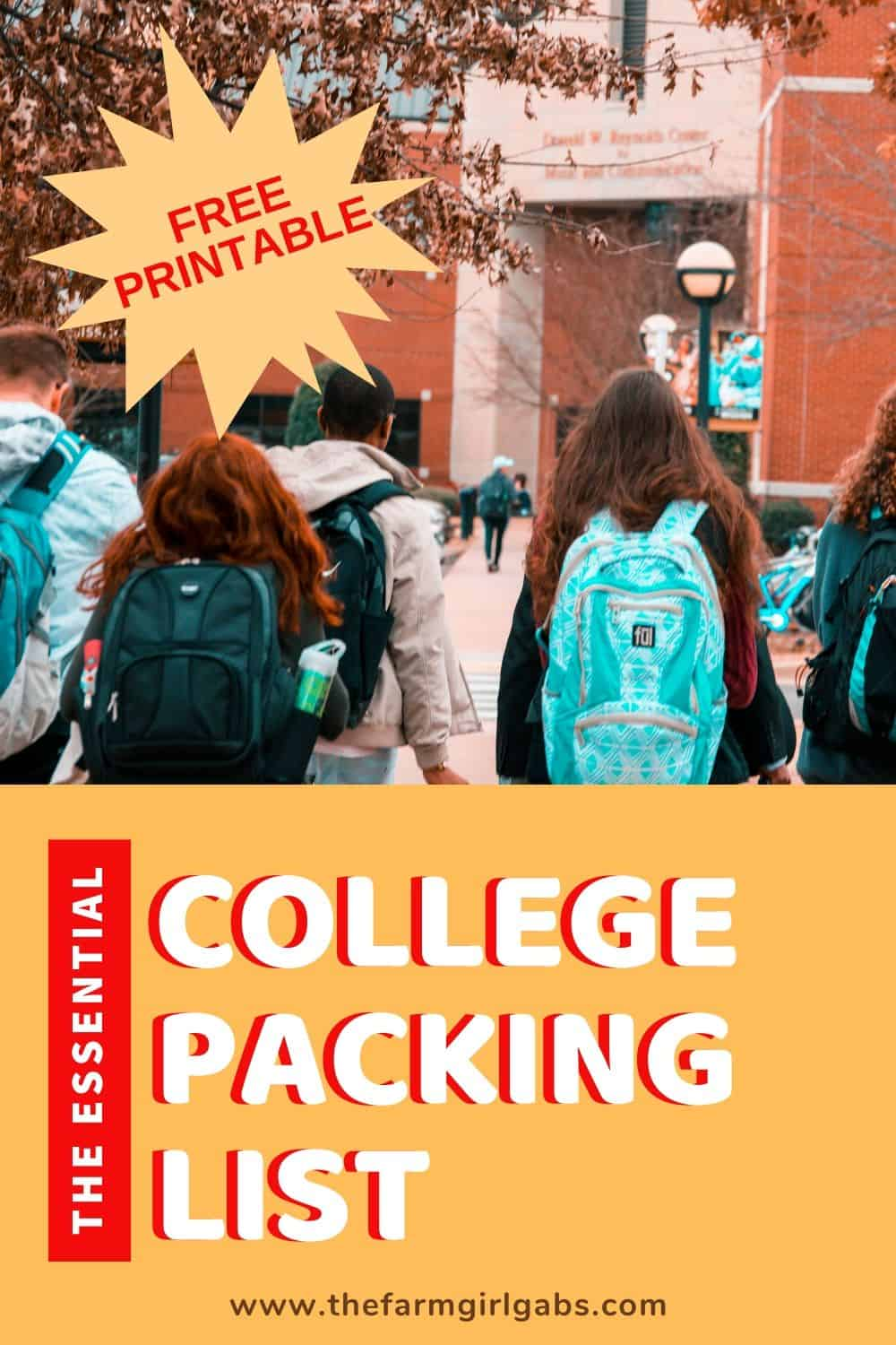 Congratulations! You are the proud parent of a college-bound student? Let the dorm room shopping fun begin! Print out this Essential College Packing List before you start shopping for the college essentials.