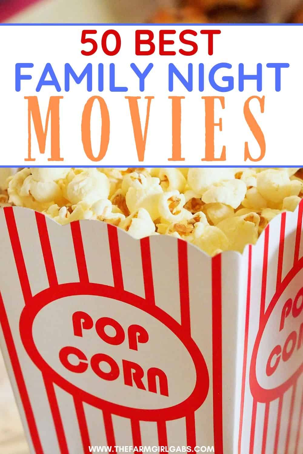 Make it a family movie night! Grab some popcorn and pick one of these 20 Best Family Night Movies to watch as a family. Movie nights are a great family bonding experience!