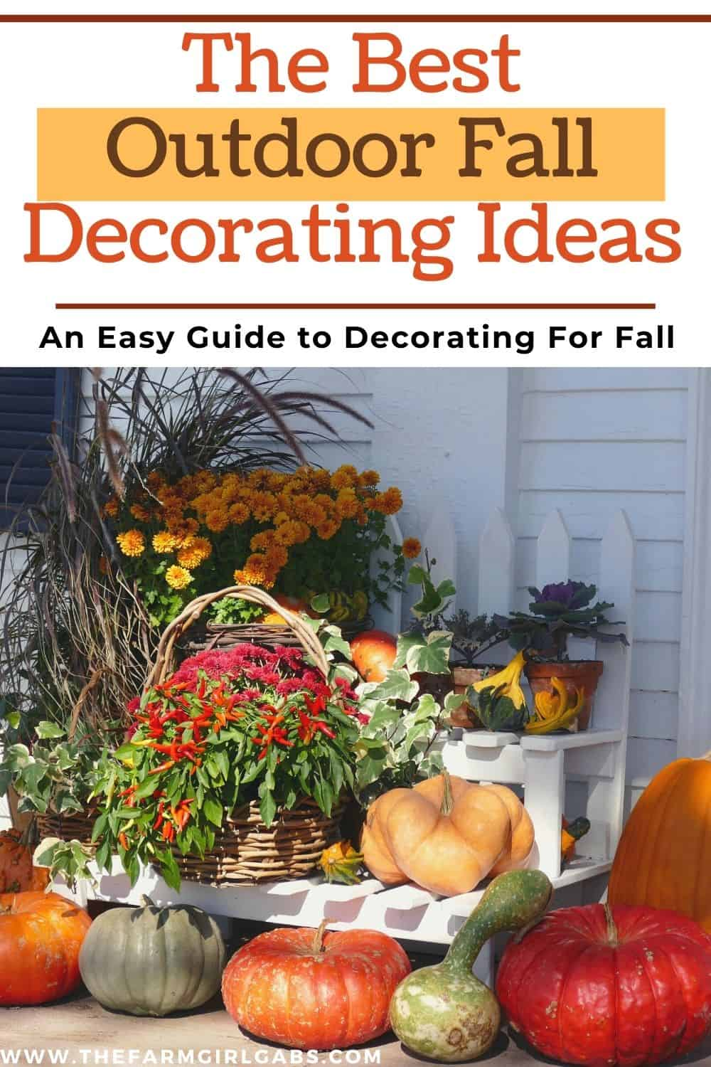 Make your home a show-stopper this fall with these Outdoor Fall Decorating Ideas! Fun ways to decorate your home this fall. These budget-friendly decorating tips will make your home look like a show stopper this fall.