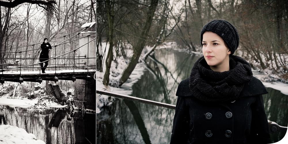 Portrait Lifestyle Bilder im Schnee