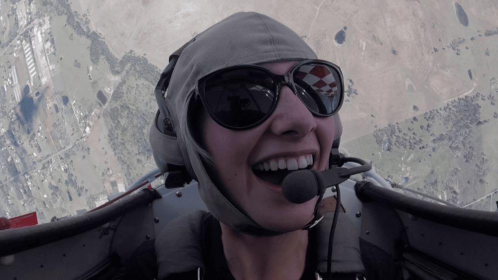 AAA Joy Flight passenger smiling face
