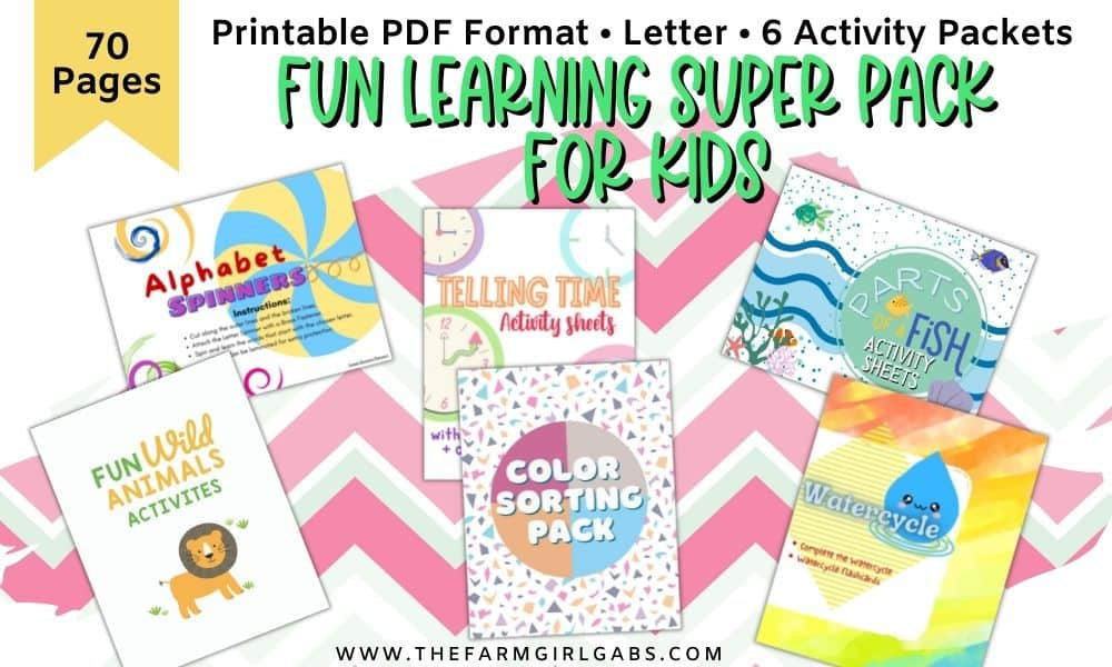 Fun learning activity pages for kids