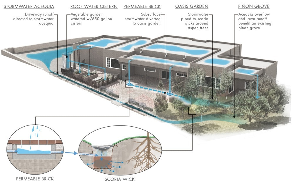 Santa Fe Landscape Garden Design Water Conservation