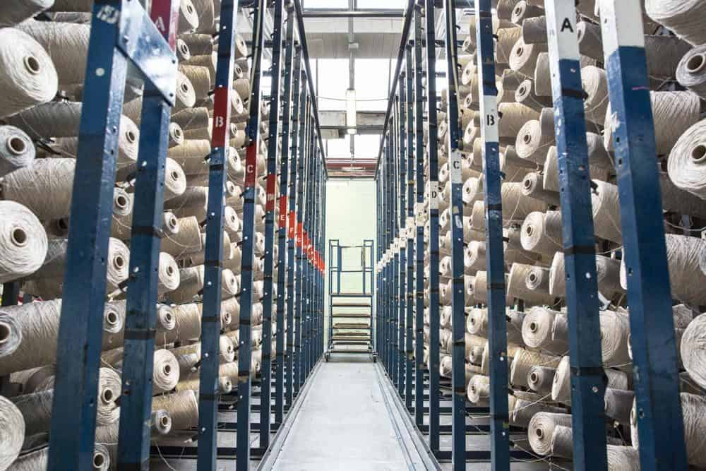 Manufacturing warehouse that make carpets during their commercial photography manchester photoshoot