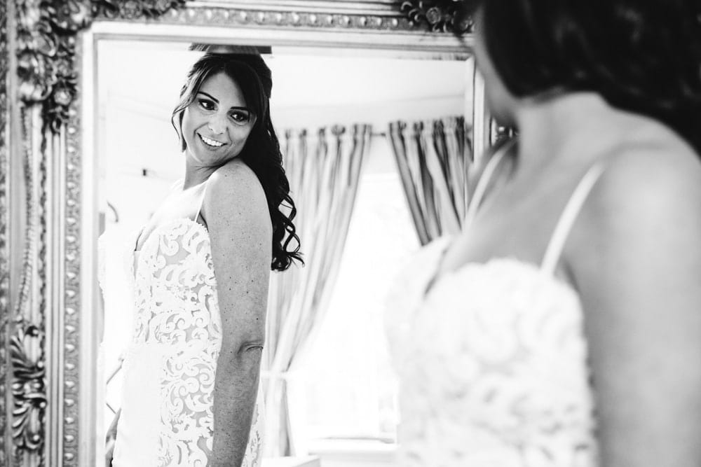 bridal preparations at a wedding in cheshire at the brides house