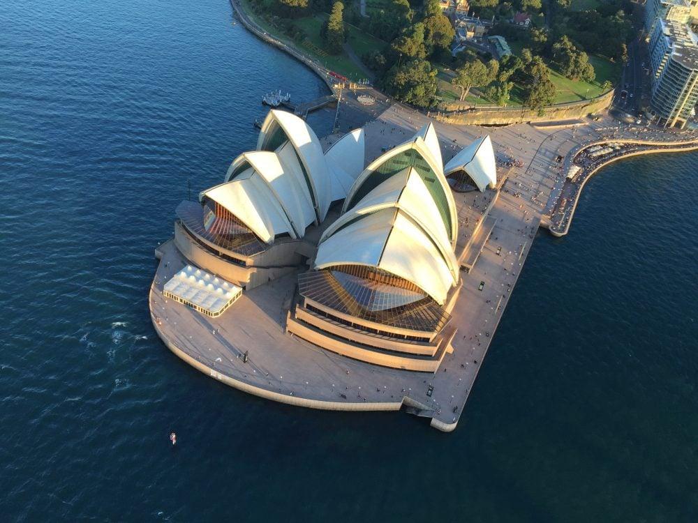 Sydney Opera House as seen on AAA Sydney Harbour Luxury Scenic Flight