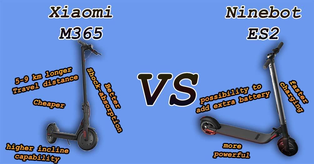 Xiaomi M365 vs Ninebot ES2