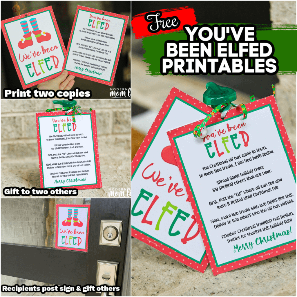 You've Been Elfed Instructions