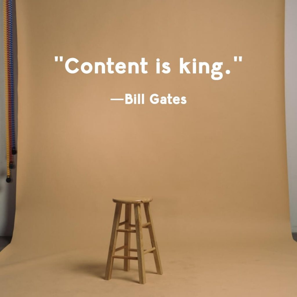 content is king bill gates quote