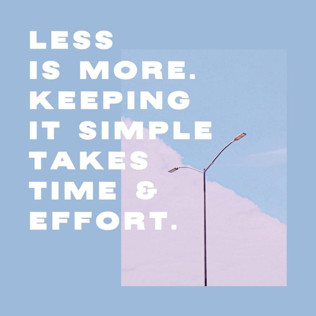 minimal marketing quote