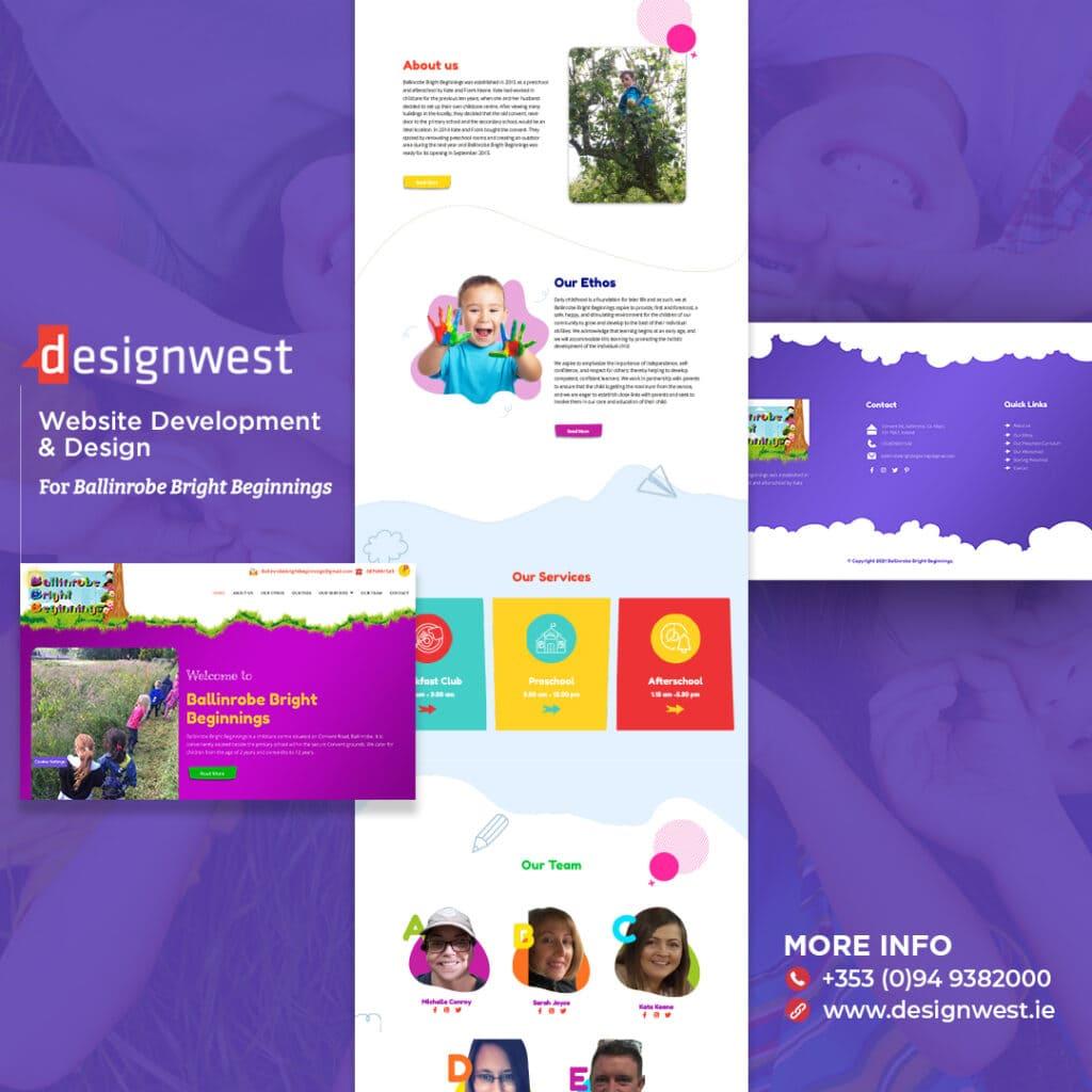Ballinrobe Bright Beginnings - Website Design