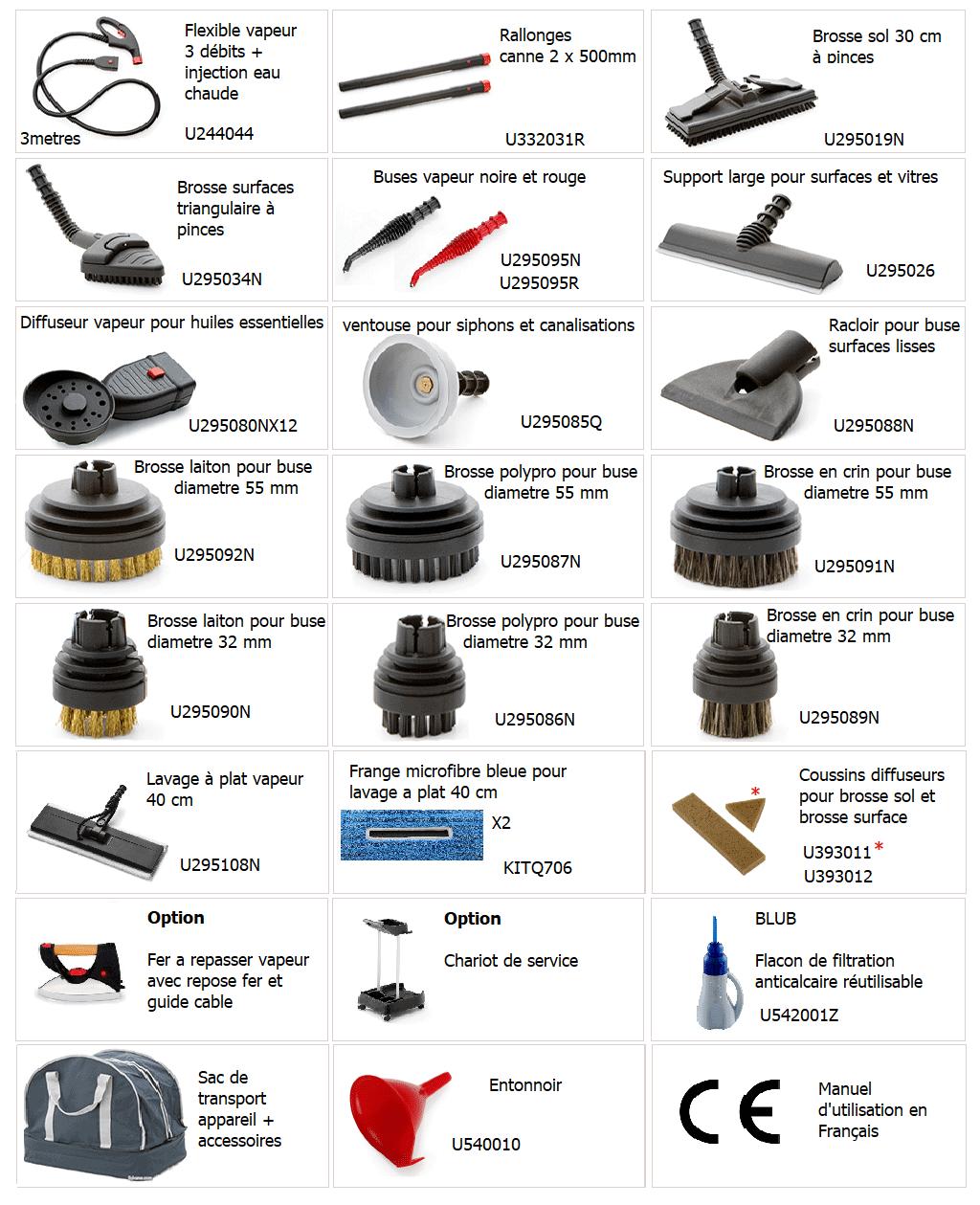 accessoires vapeur 903 pro