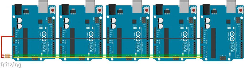 Mehrere Arduinos verbinden I2C USB