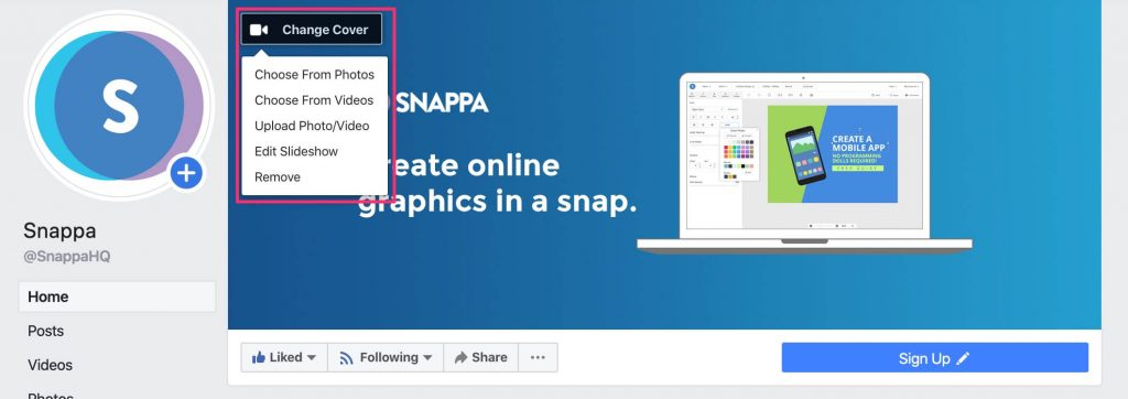 facebook video & slideshow cover photo
