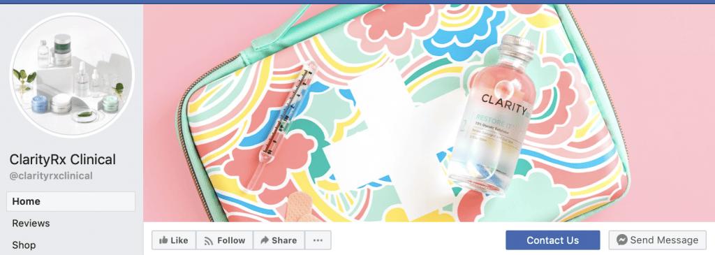 simple pink background facebook