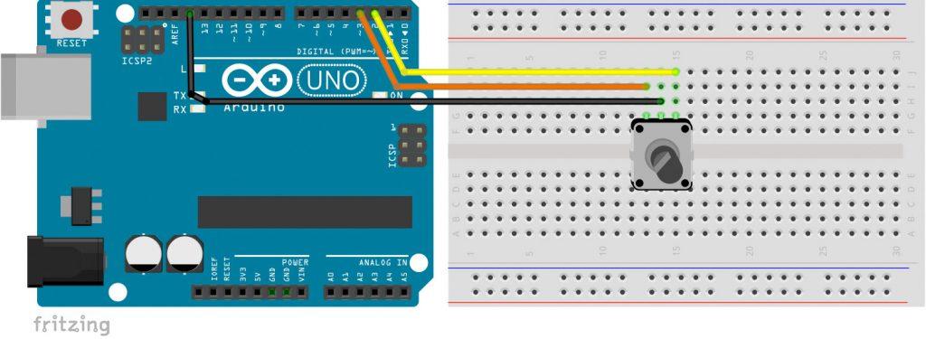 Arduino Encoder (Drehimpulsgeber) Schaltplan