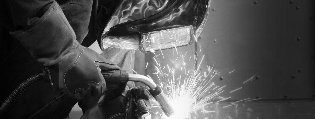Welder using Bernard semi-automatic MIG gun
