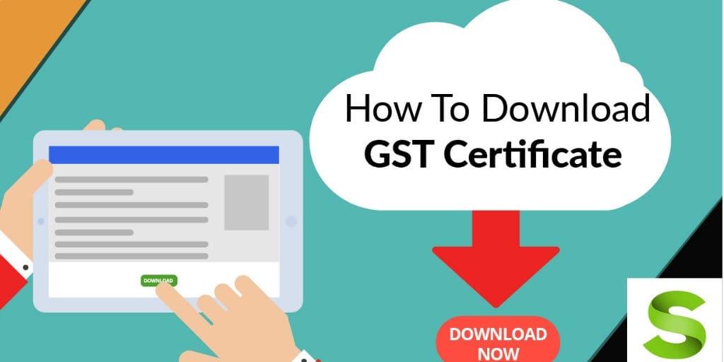 gst certificate download