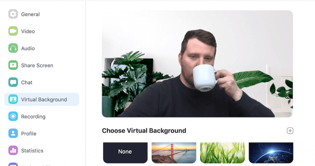 Zoom virtual background office example