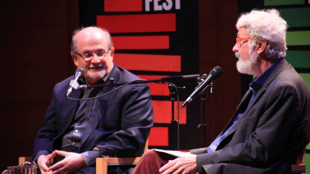 Salman Rushdie and Hal Wake