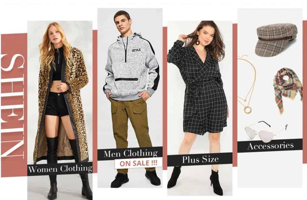 Women Fashion replica Shein Zara Topman Forever21