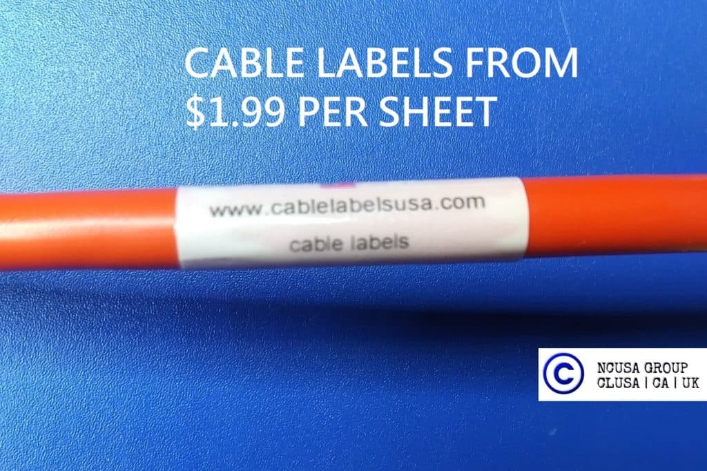 cable labels