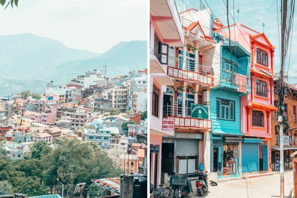 Colorful buildings in Tansen, Nepal