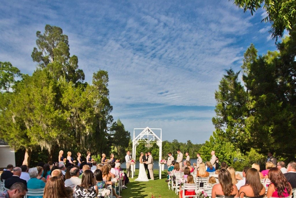 wedding in the garden at Old Santee Canal State Park
