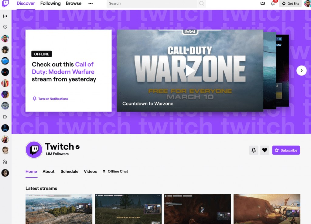 Twitch profile banner example