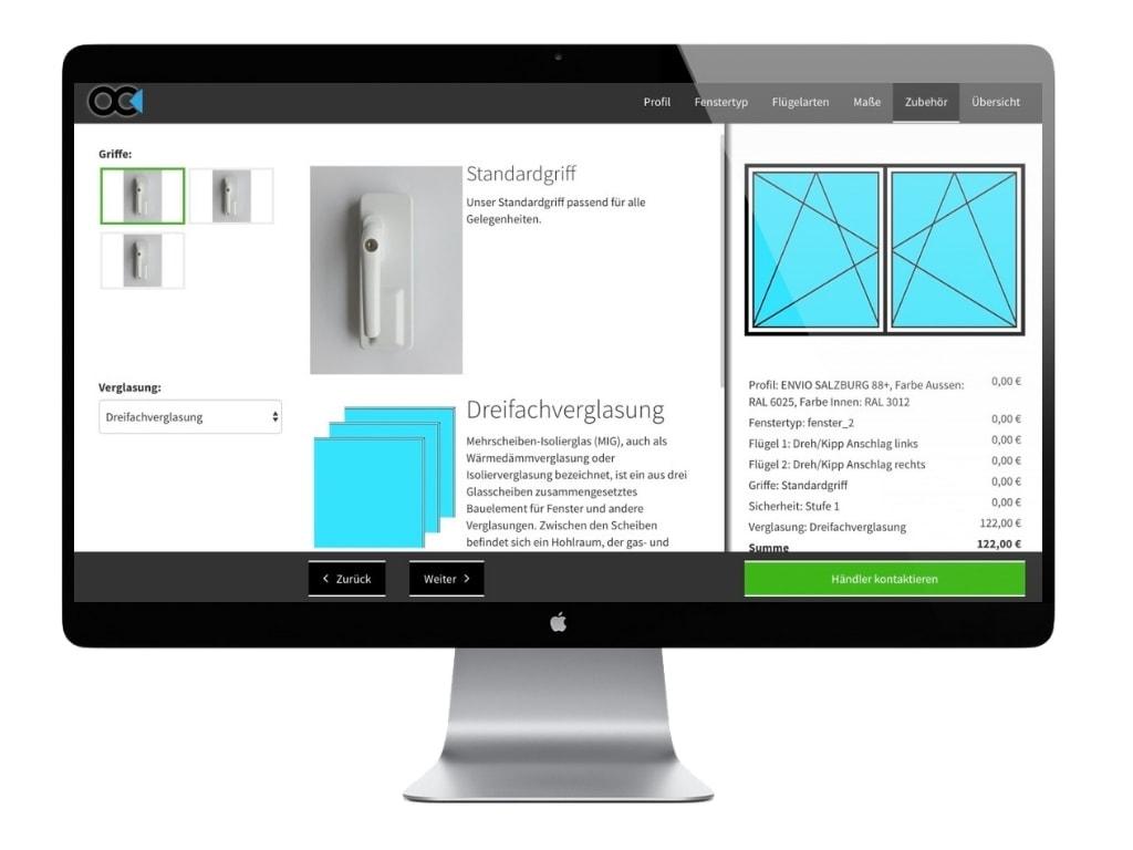 Fenster-Konfigurator der ObjectCode GmbH
