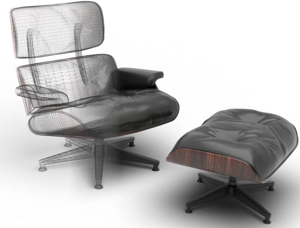 3d-Produktvisualisierung Beispiel Sessel
