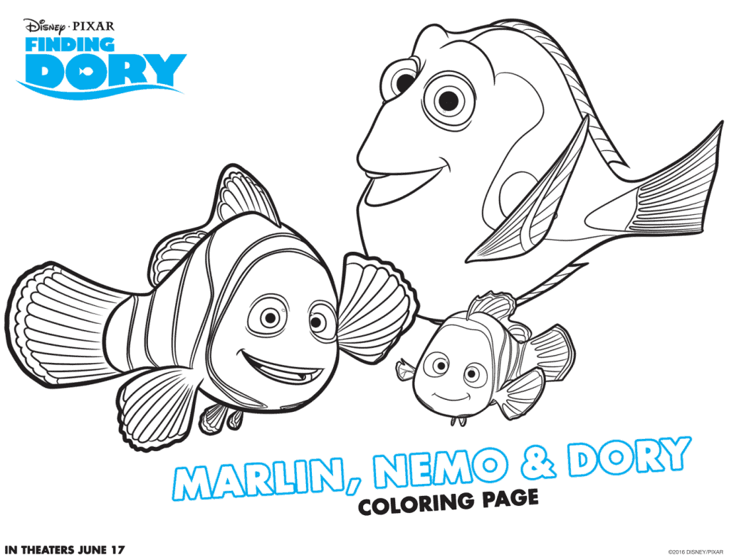 Finding Dory Color Pages