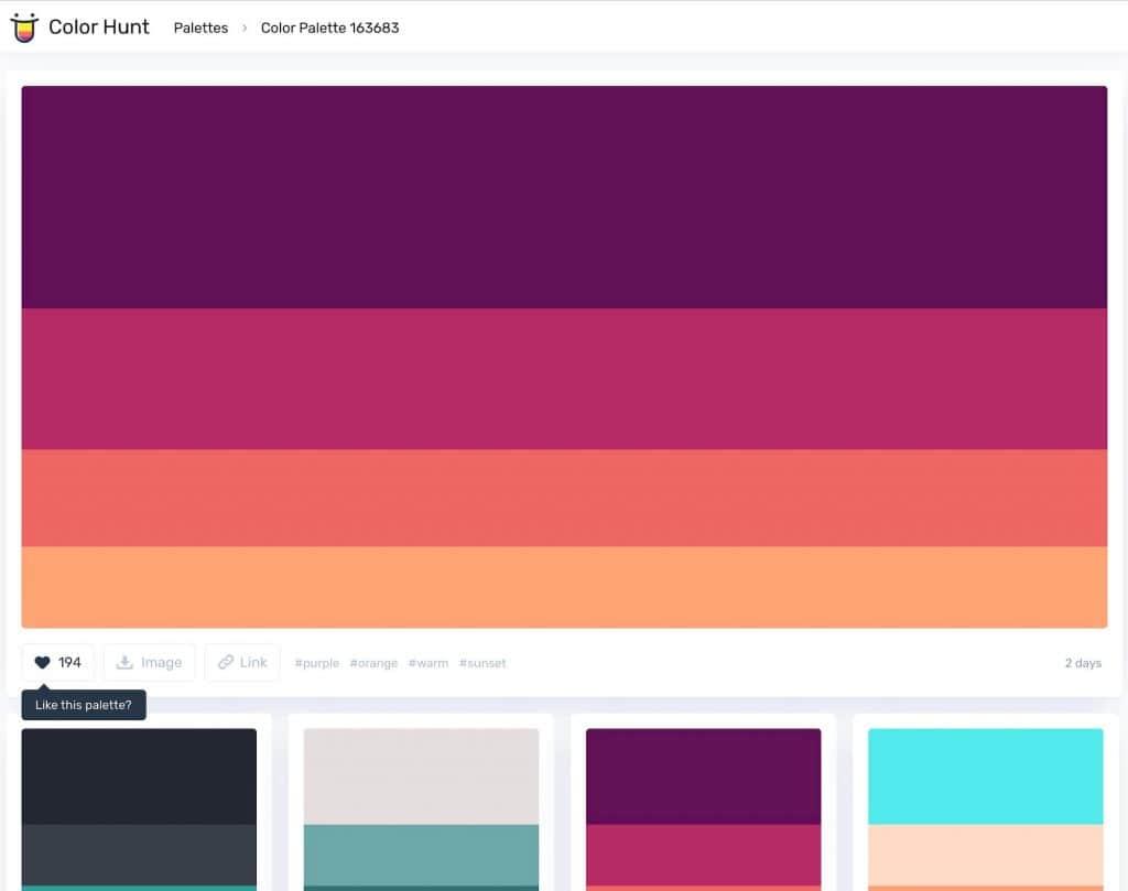 simple color hunt generator