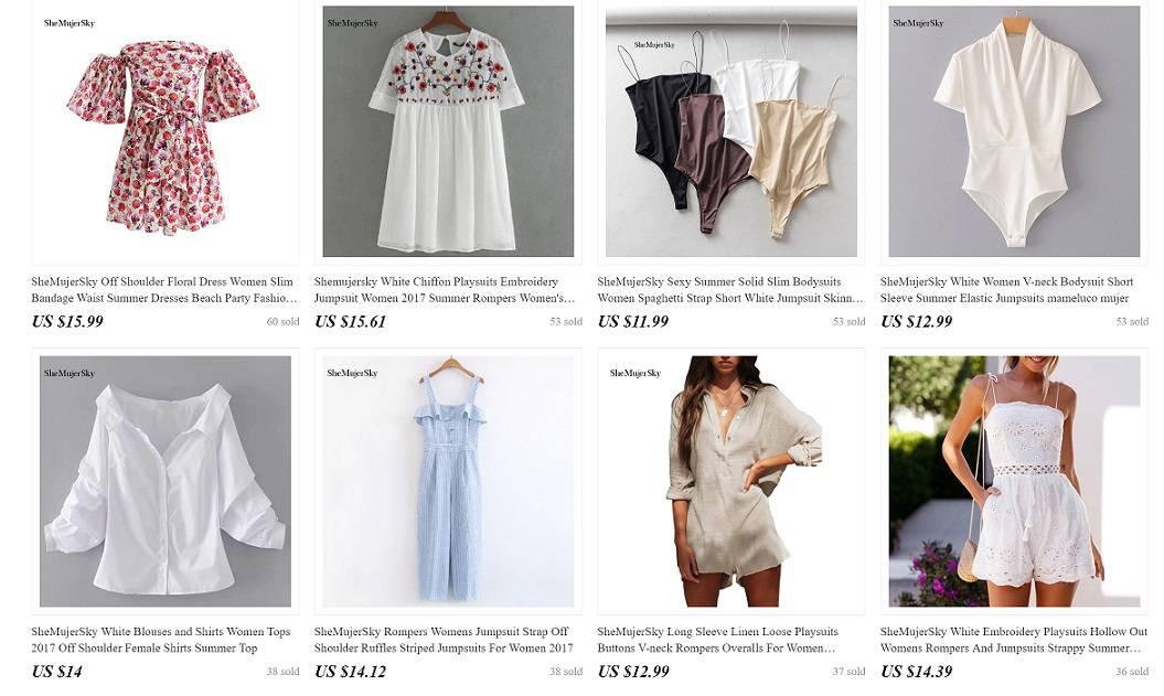 Women Fashion AliExpress Clothing Store Shemujersky Dress Blouse Wide Selection Cheap Casual Wear Mature Sexy 3